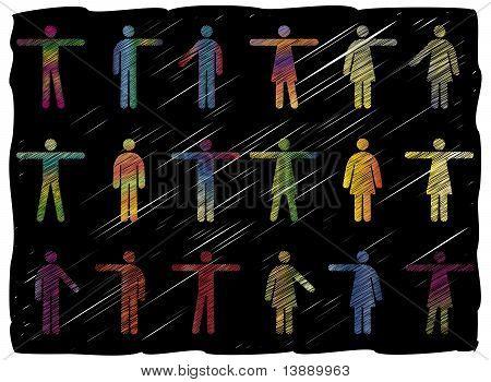 Line Art People Pictograms