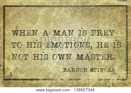Prey Of Emotion Spinosa