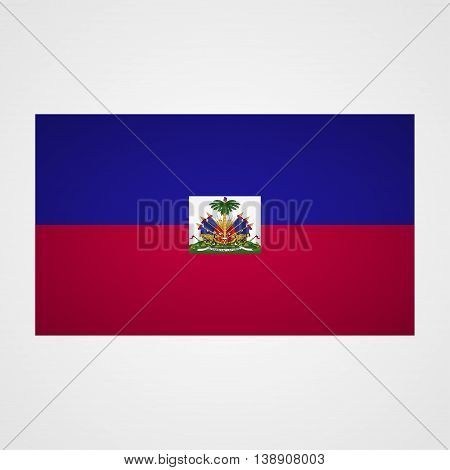 Haiti flag on a gray background. Vector illustration