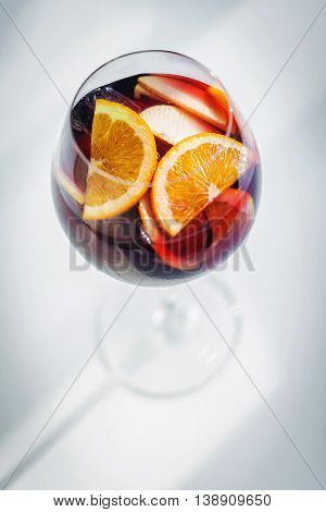 red wine spanish famous traditional fruity sangria gourmet cocktail drink