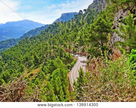 Road In The Tramuntana Mountains, Majorca