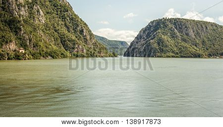 Danube River At Cazanele Mari