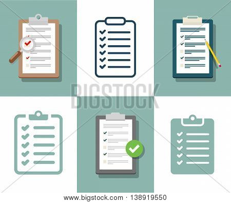 Survey Illustration. Checklist Illustration. Survey Checklist Icon. Survey checklist flat. Survey checklist design poster