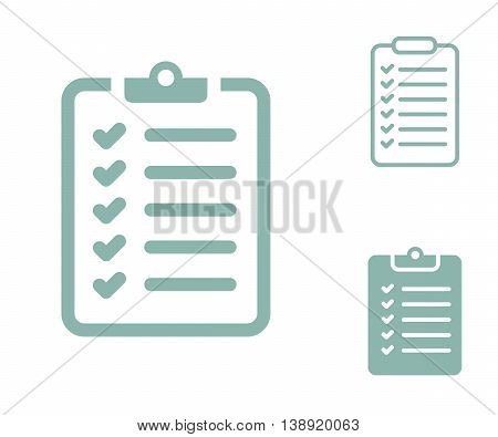 Survey Checklist Icon. Survey Checklist Flat