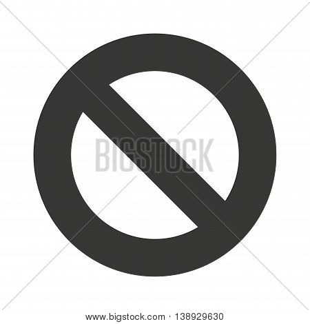 denied symbol circle icon vector isolated graphic
