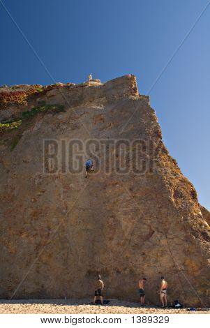 Rock Climbers Climbing Rocks