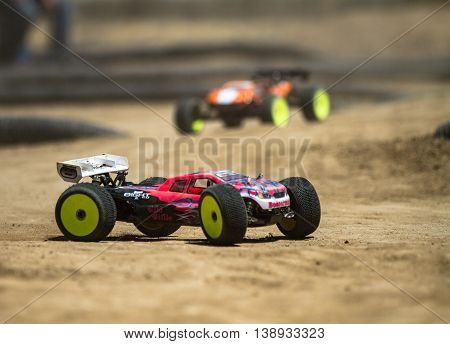Quick Cars Race Each Other