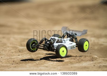 Getting A Little Air Over A Rough Track