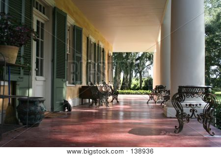 Porch Of A Southern Plantation Ii