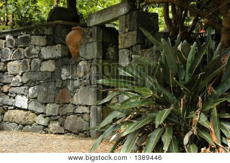 Old Stone Wall And Doorway