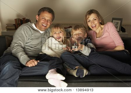 Family Watching Television Together