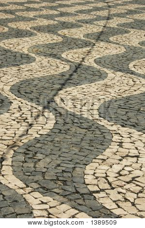 Cobblestone Path In The Azores