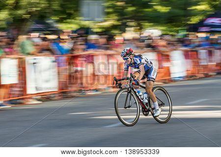 Fast Woman On A Bike