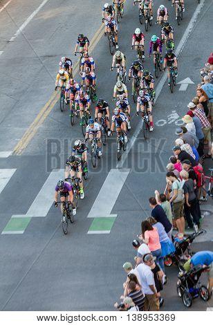 Line Of Bikers