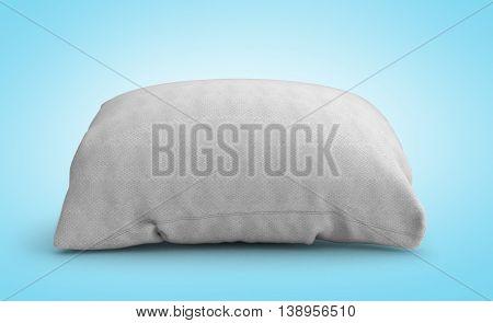 Clasic White Rectangular Pillow 3D Illustration On Gradient