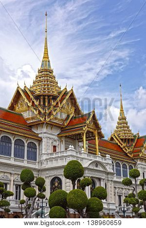 Beautiful view of a Grand Real Palace, Bangkok. THAILAND.