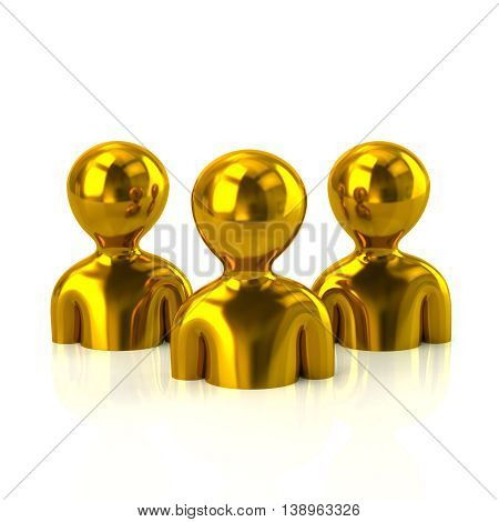 Group Of Golden People