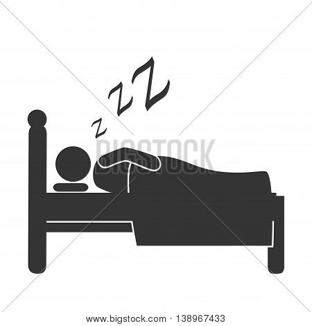 Sleep good in bed, isolated flat icon vector illustration design.