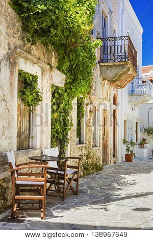 beautiful old streets of Greece. Naxos island