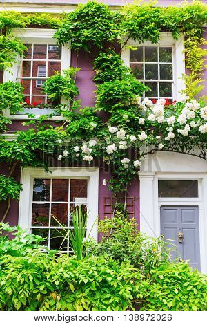 Picturesque House Facade In Nottting Hill, London