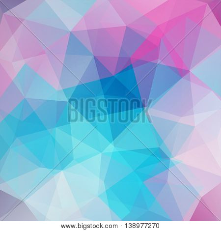 Abstract Background Consisting Of Pink, Blue Triangles, Vector Illustration