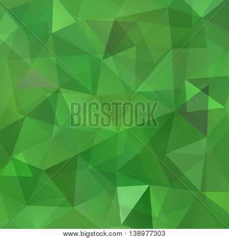 Abstract Background Consisting Of Green Triangles, Vector Illustration
