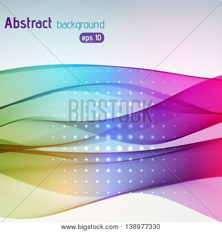 Abstract Colorful Background With Smooth Lines. Color Waves, Pattern, Art, Technology Wallpaper, Bac