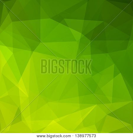 Abstract Mosaic Background. Triangle Geometric Backdrop. Design Elements. Vector Illustration. Green