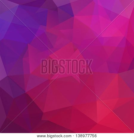 Abstract Background Consisting Of Pink, Purple Triangles, Vector Illustration