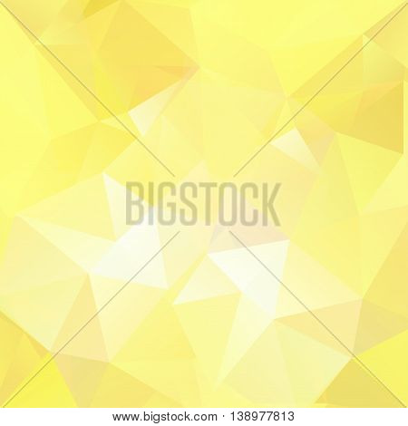 Abstract Background Consisting Of Yellow Triangles, Vector Illustration