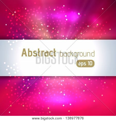 Vector Illustration Of Abstract Background With Blurred Magic Light Rays