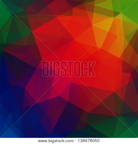 Abstract Colorful Mosaic Background. Triangle Geometric Backdrop. Vector Illustration. Red, Green, B