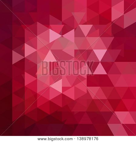Abstract Vector Background With Triangles. Red Geometric Illustration.