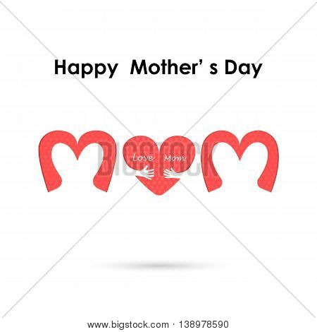 Happy Mothers Day.Love Heart Care logo.Love and Happy Mother's day background concept.Vector illustration