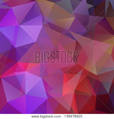 Abstract Background Consisting Of Purple Triangles, Vector Illustration
