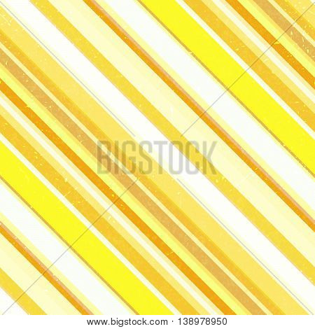 Seamless Abstract Background With Yellow, White, Orange Stripes, Vector Illustration