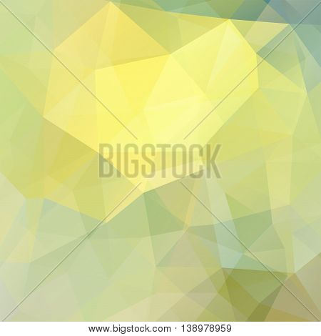 Abstract Background Consisting Of Yellow, Green Triangles, Vector Illustration