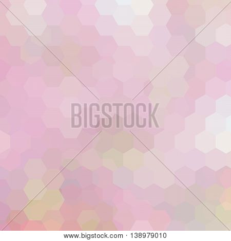 Geometric Pattern, Vector Background With Hexagons In Pink Tones. Illustration Backdrop