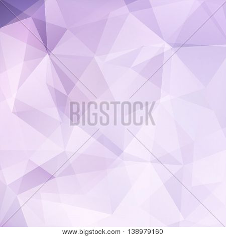 Abstract Polygonal Light Background. Pastel Pink Geometric Vector Illustration. Creative Design Temp