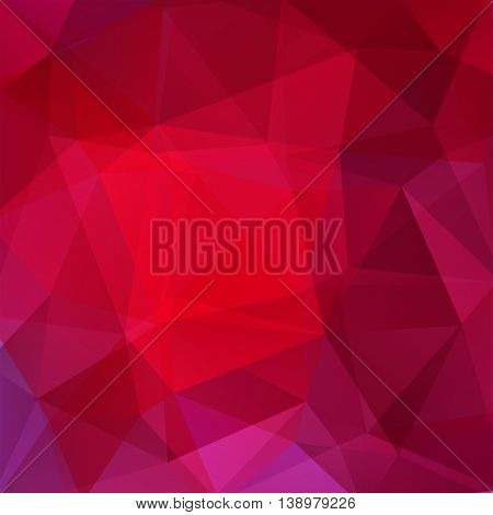 Abstract Polygonal Christmas Background. Red Geometric Vector Illustration. Creative Design Template