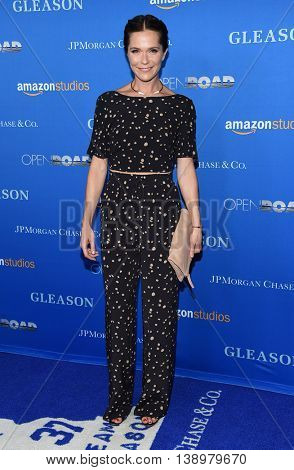 "LOS ANGELES - JUL 14:  Katie Aselton arrives to the ""Gleason"" Los Angeles Premiere on July 14, 2016 in Los Angeles, CA"