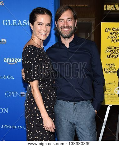 "LOS ANGELES - JUL 14:  Katie Aselton & Mark Duplass arrives to the ""Gleason"" Los Angeles Premiere on July 14, 2016 in Los Angeles, CA"