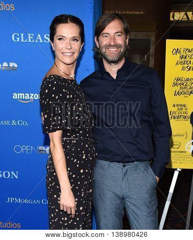 "LOS ANGELES - JUL 14:  Katie Aselton & Mark Duplass arrives to the ""Gleason"" Los Angeles Premiere on July 14, 2016 in Los Angeles, CA"