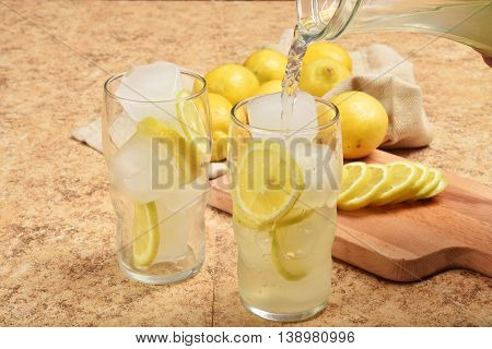 Pouring Lemonade