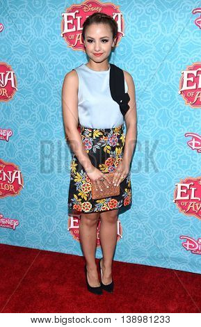 """LOS ANGELES - JUL 16:  Aimee Carrero arrives to the Disney Channel's """"Elena of Avalor"""" Los Angeles Premiere on July 16, 2016 in Beverly Hills, CA"""