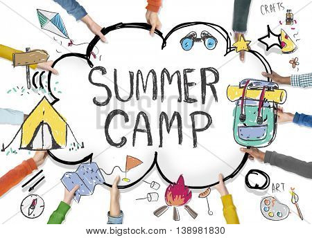 Summer Camp Adventure Exploration Enjoyment Concept