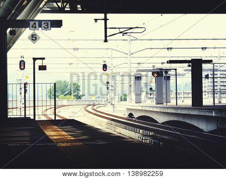 Public Transportation Station Platform Station Metropolitan Concept