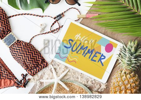 Beach Summer Holiday Vacation Journey Exploration Concept
