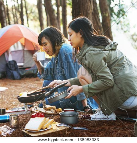 Hangout Traveling Destination Camping Concept