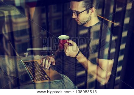 Laptop Connection Electronic Networking Relax Concept